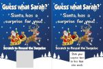 Personalised Surprise Gift from Santa Reveal Scratch Card